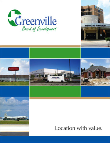 Print design for City of Greenville