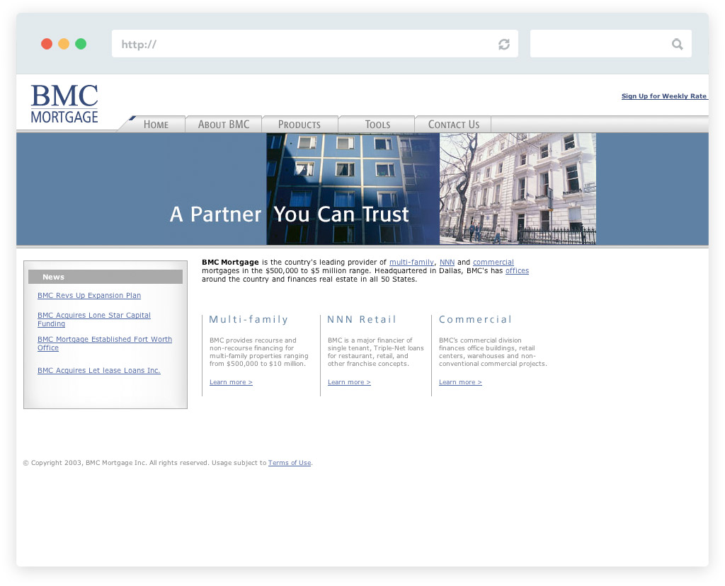 BMC Mortgage business website design