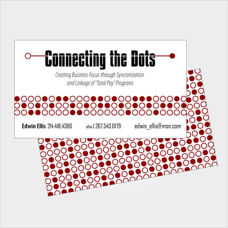 Business Card Design for Connecting The Dots