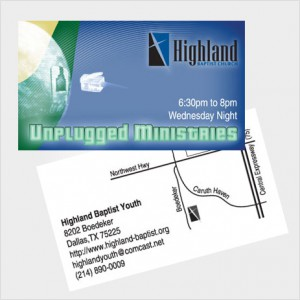 Business Card Design for Highland Baptist Church