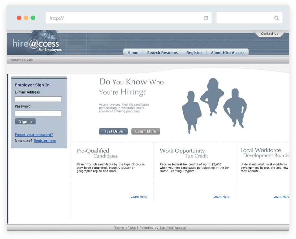 Hire Access website design