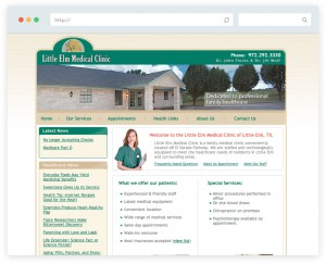 Little Elm Medical Clinic business website design