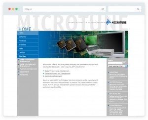 Microtune website design