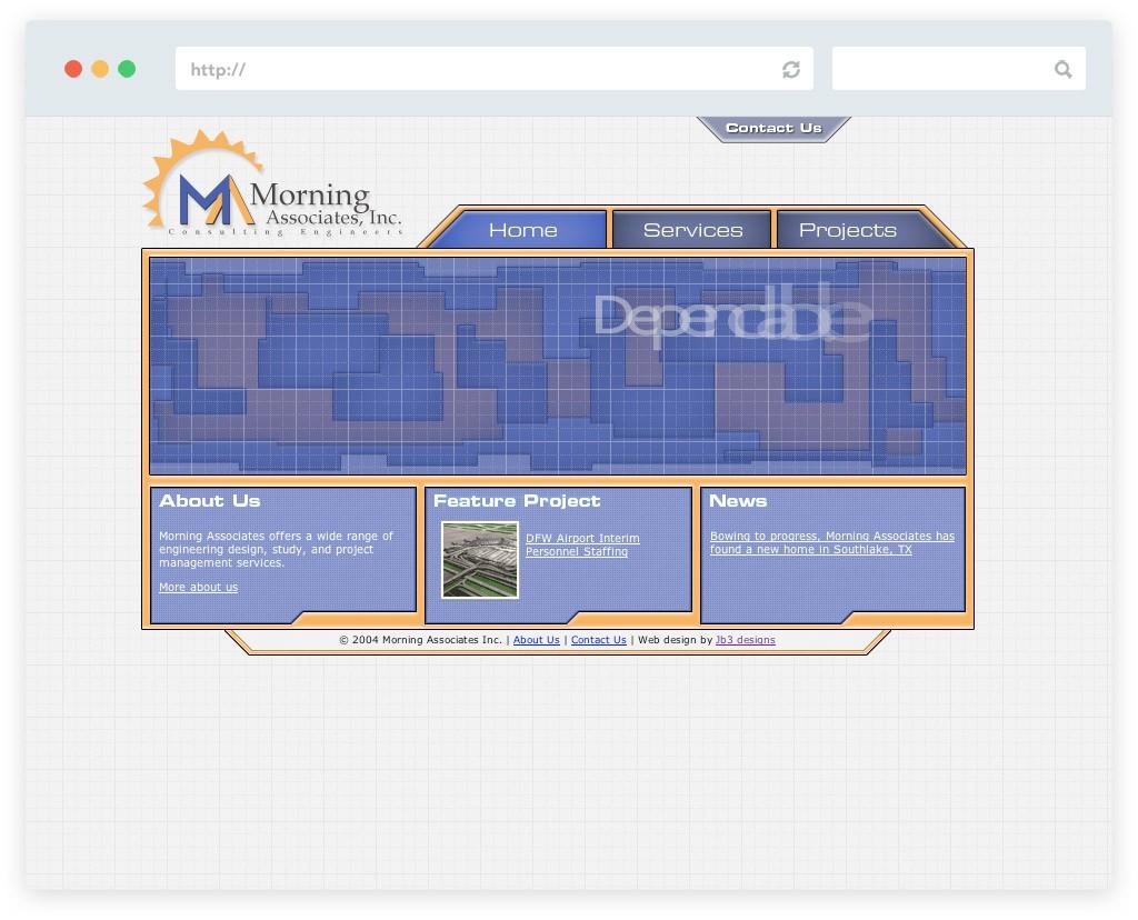 Morning Associates Website Design