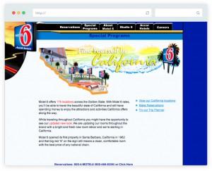 Website design California feature for Motel 6 website