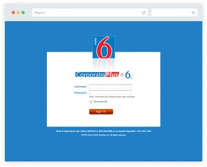 Web design for Motel 6 corporate portal