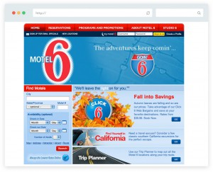 Motel 6 website design