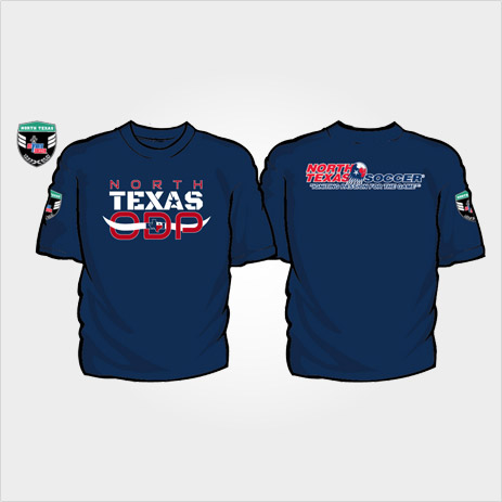 North Texas Soccer ODP T-shirt design blue