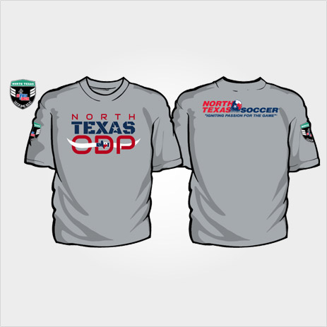 North Texas Soccer ODP T-shirt design gray