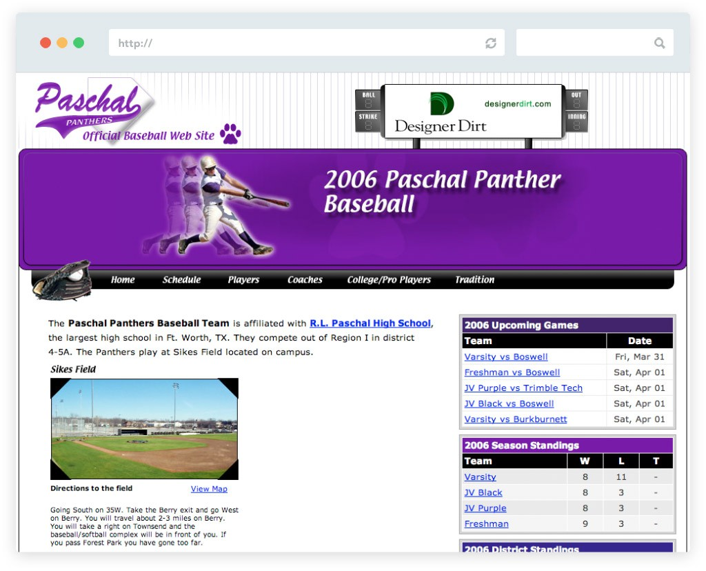 Paschal Baseball website