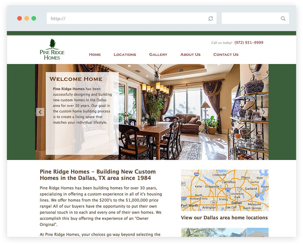 Home builder website design in frisco tx pine ridge for Home plan websites