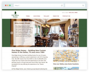 Pine Ridge Homes home builder business website design