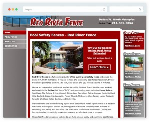 Red River Fence business website design