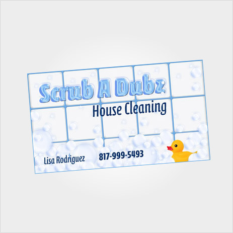 Scrub A Dubz Business Card Design