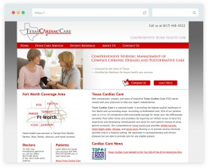 Texas Cardiac Care business website design