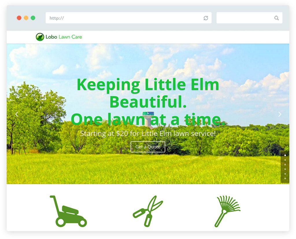 Website design for Lobo Lawn Care Little Elm