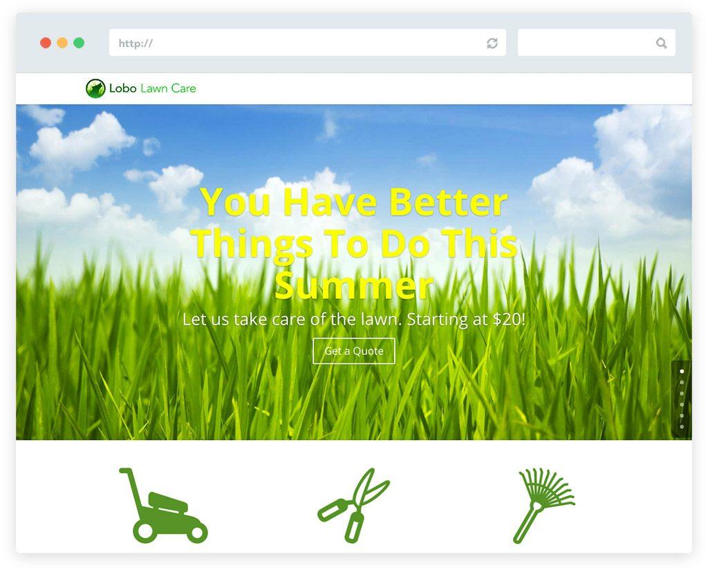 Lobo lawn care website design