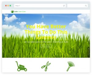 Lobo lawn care website design