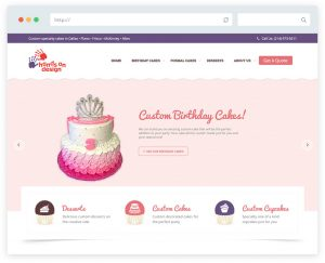 Hands On Design Cakes website design