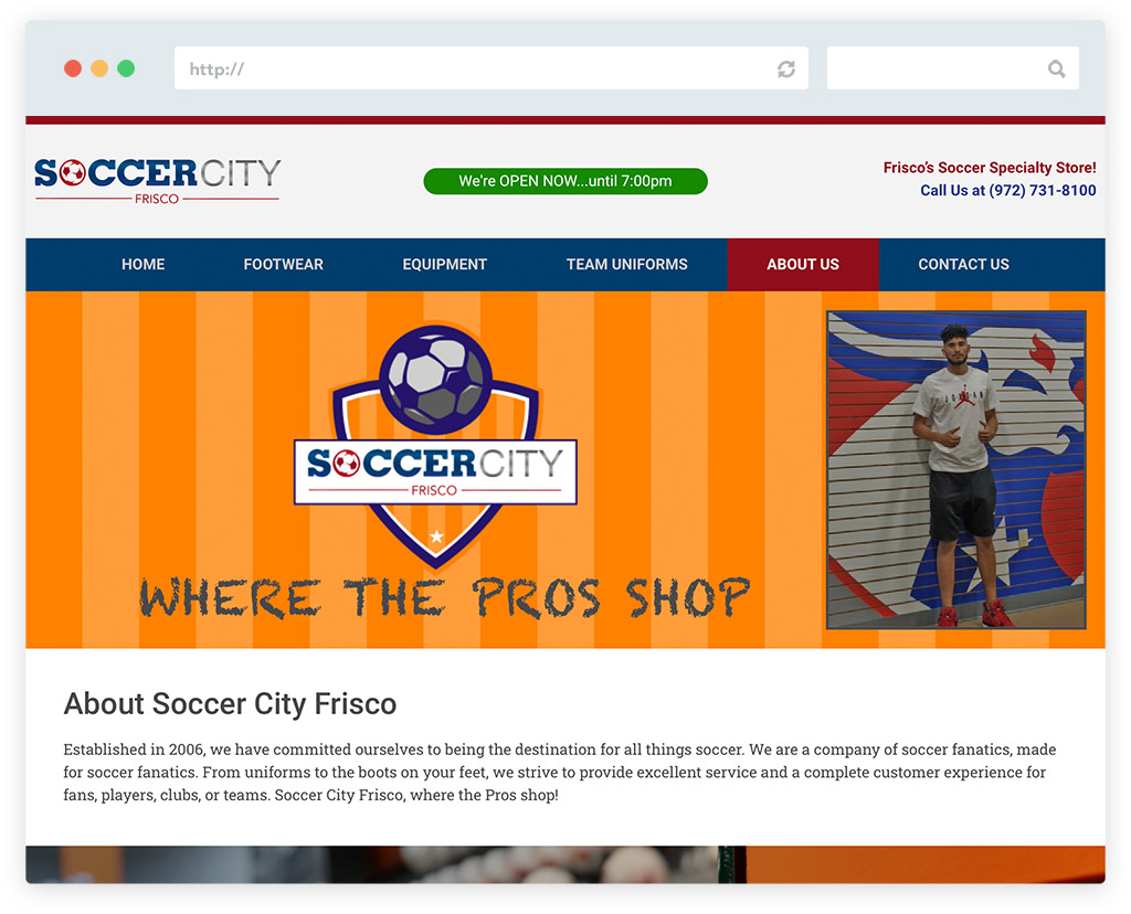 Soccer City Frisco About Us Page
